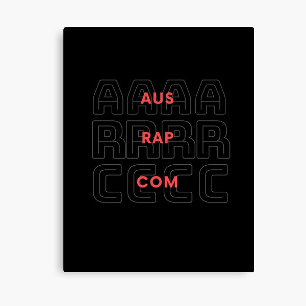 Aus Rap Com - Hip Hop Streetwear Australia Canvas Print