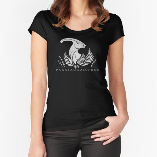 Parasaurolophus Fitted Scoop T-Shirt