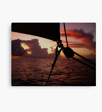 Sunsail in St. Lucia Canvas Print