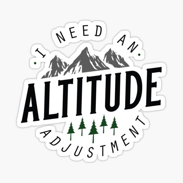 Altitude Adjustment Sticker