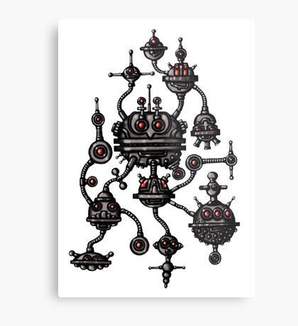Robotic Life Form cartoon drawing Metal Print