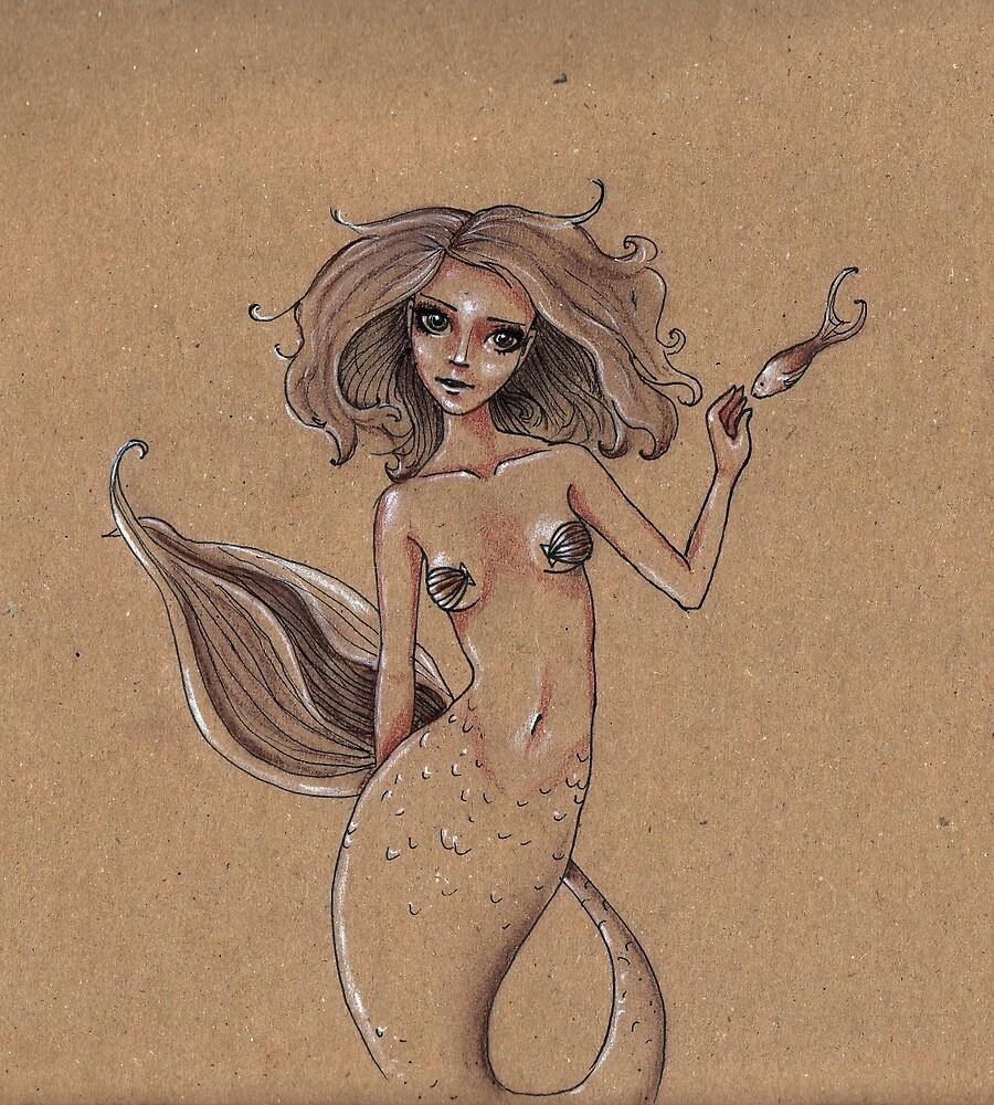 mermaid by Rebekka  Schönefuß