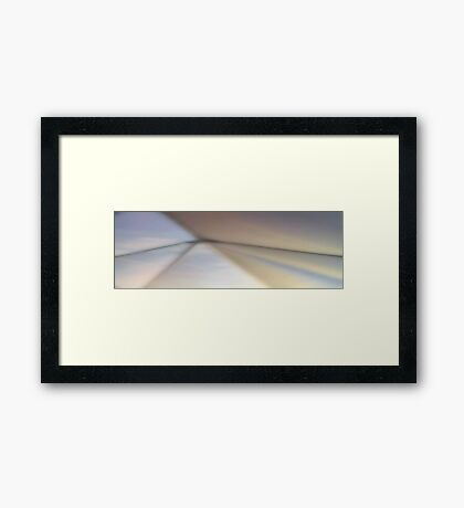 Lights on the wall Framed Print