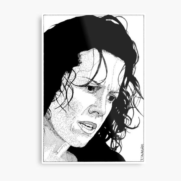 Salma Hayek Metal Print By Pascaltavarner Redbubble
