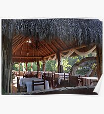 Palapa - traditional restaurant down by the river - tradiconal restaurante cerca del rio Poster