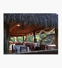 Palapa - traditional restaurant down by the river - tradiconal restaurante cerca del rio Photographic Print