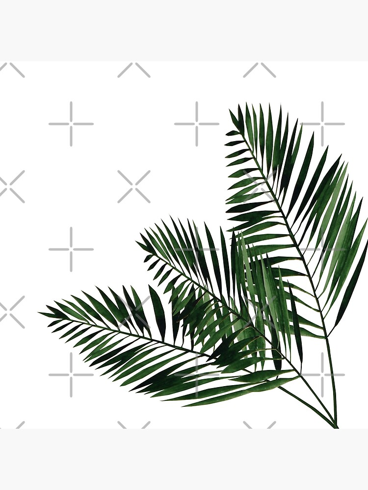 Tropical Exotic Palm Leaves on #Redbubble by UtArt