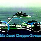 Pacific Coast Chopper Dreaming1986 The MUSEUM RedBubble Gifts by TheMUSEUM