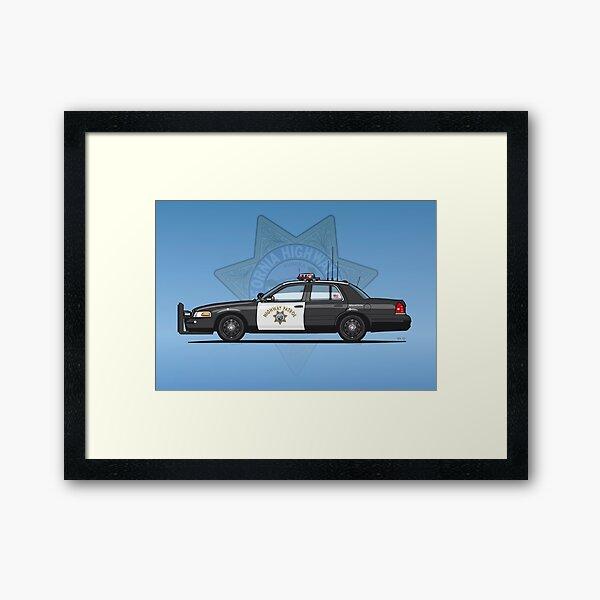 California Highway Patrol Ford Crown Victoria Police Interceptor Framed Art Print