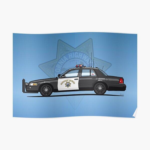 California Highway Patrol Ford Crown Victoria Police Interceptor Poster