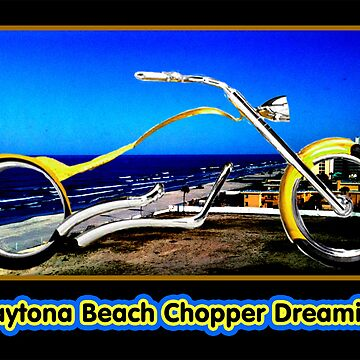 Daytona Beach Chopper Dreaming Yellow Gold jGibney The MUSEUM RedBubble Gifts by TheMUSEUM