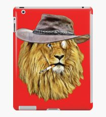 Lion with hat, cigarette, and monocle iPad Case/Skin
