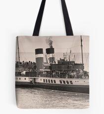 Waverley Paddle Steamer In Sepia Tote Bag