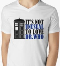 Not Unusual - Dr. Who Men's V-Neck T-Shirt