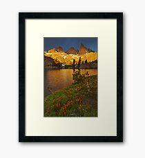 Minaret Lake Sunrise Framed Print