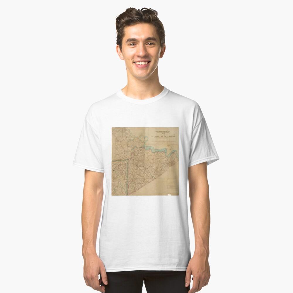 Map of Petersburg Virginia (1864) Classic T-Shirt Front