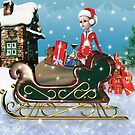 Santa's Sleigh with Elf by tapiona
