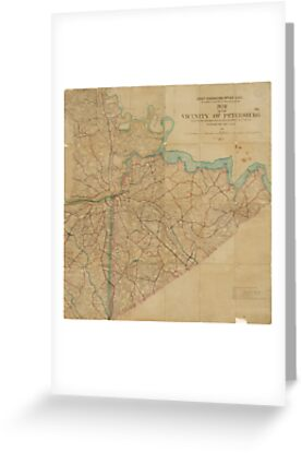 Map of Petersburg Virginia (1864) by allhistory