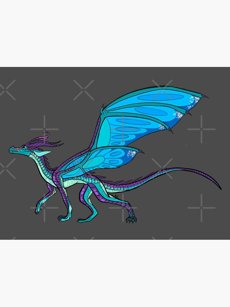 Blue The Silkwing With Wings Postcard By Amberkaylee Redbubble