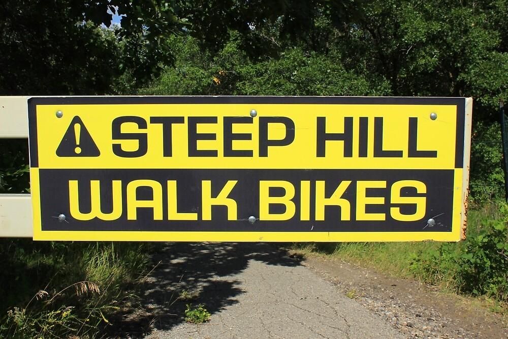 Steep Hill Sign by rhamm