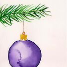 Watercolor card ornament by ArtLuver