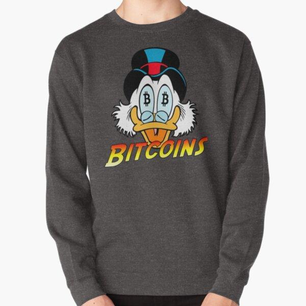 Scrooge McDuck Bitcoins  Pullover Sweatshirt