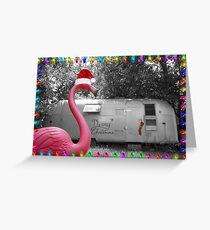 Holiday Pink Flamingo Greeting Card