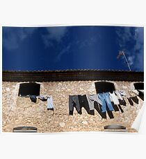 The washing line Poster
