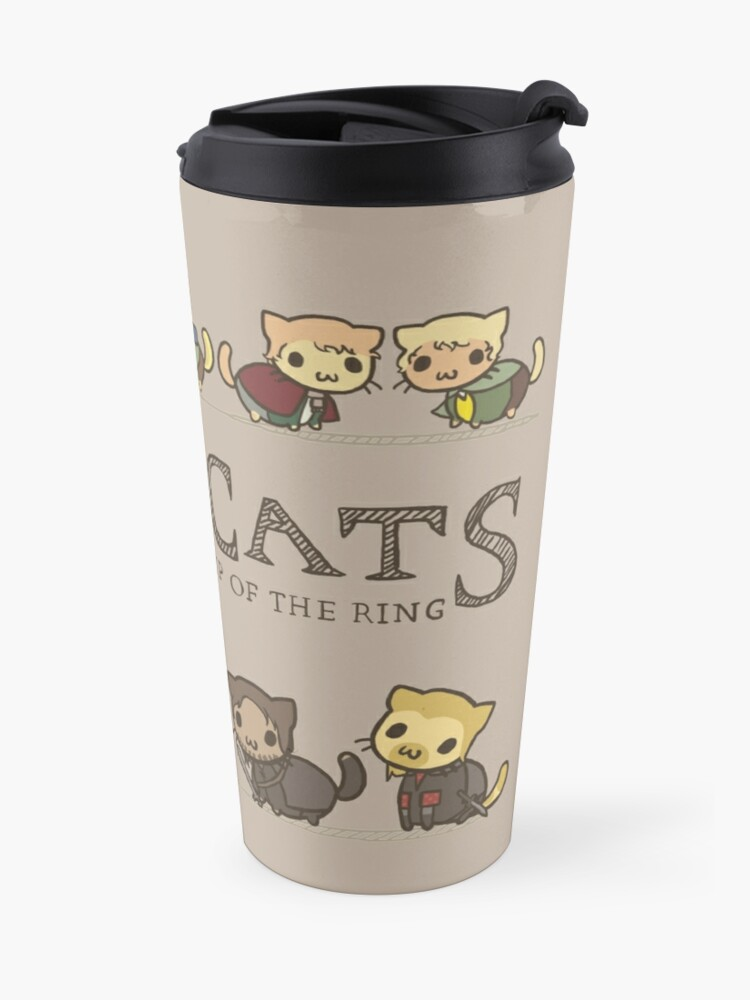 Alternate view of The Furrlowship of the Ring Travel Mug