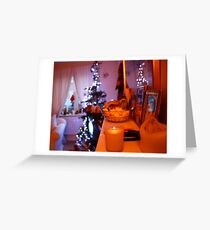 Christmas Mantelpiece Greeting Card