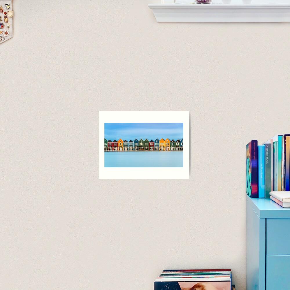 Colorful Dutch Houses Art Print