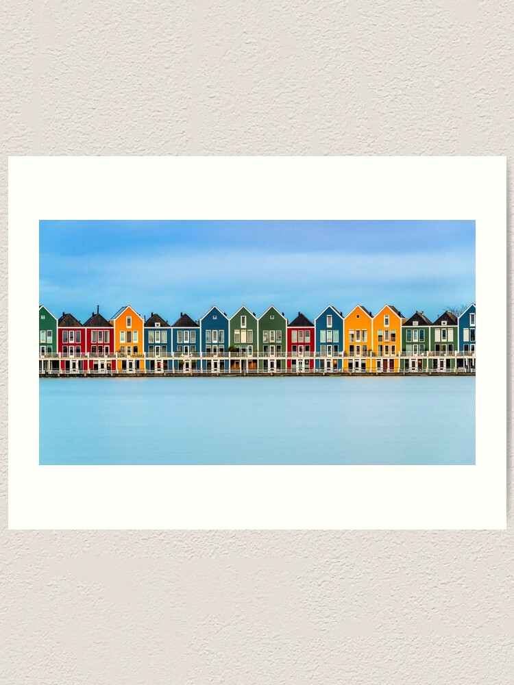 Alternate view of Colorful Dutch Houses Art Print