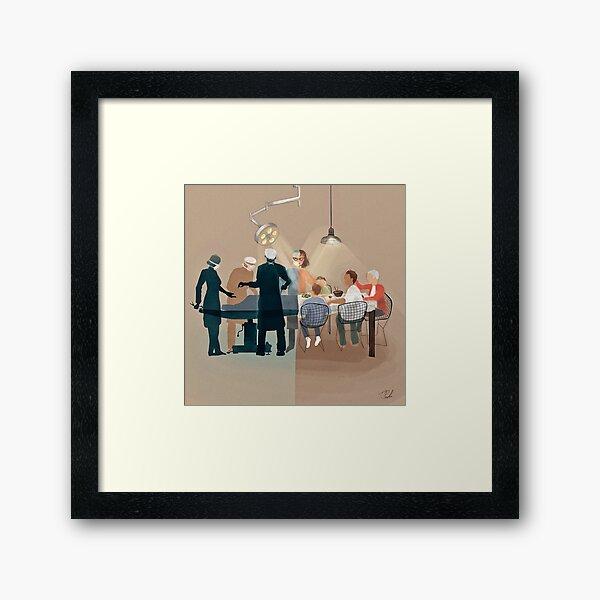 The Female Surgeon  Framed Art Print