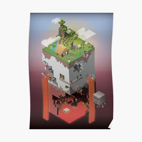 Le monde des blocs Poster