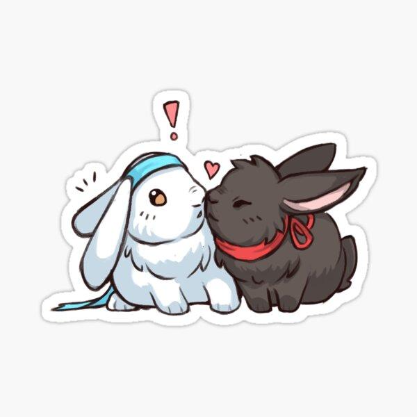 Wangxian bunnies Sticker