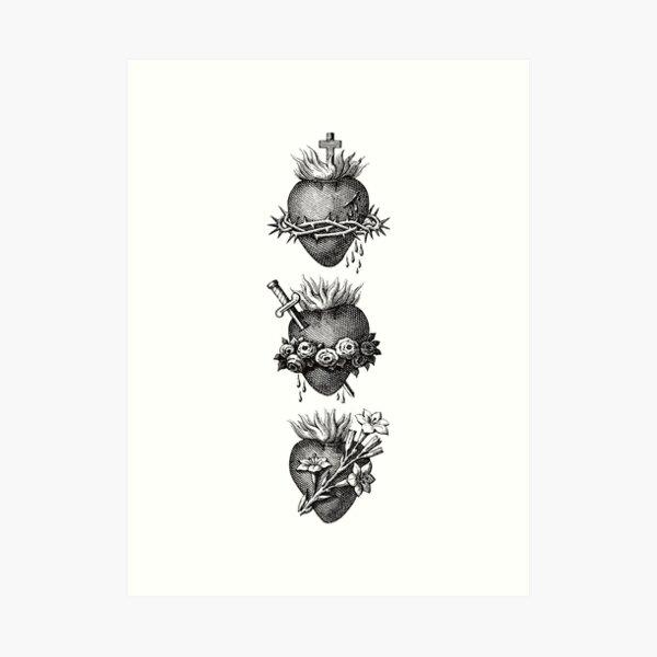 Hearts of the Holy Family Art Print