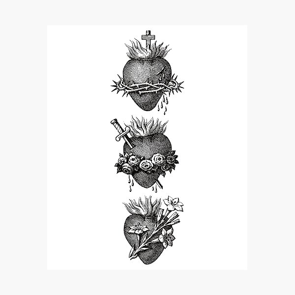 Hearts of the Holy Family Photographic Print