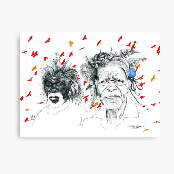 Sunmen with the Birds Canvas Print