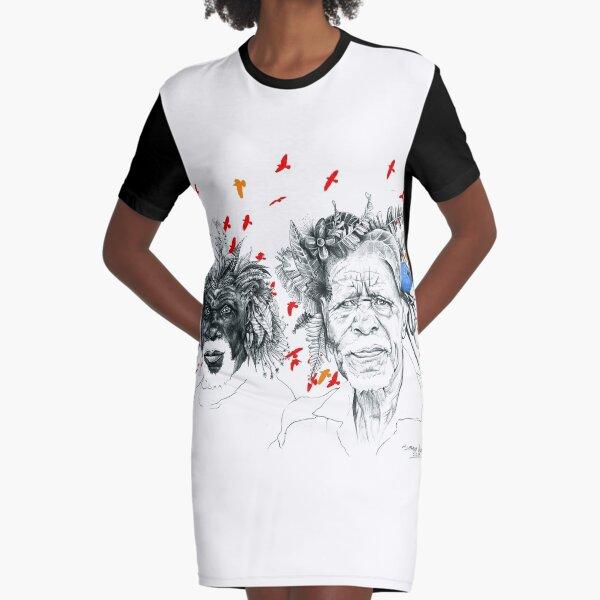 Sunmen with the Birds Graphic T-Shirt Dress