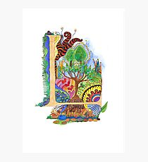 L - an illuminated letter Photographic Print