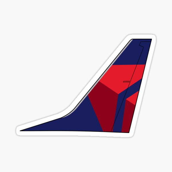 """Delta Air Lines """"Onward and Upward"""" Boeing 737-800 Tail (Left Facing) Sticker"""