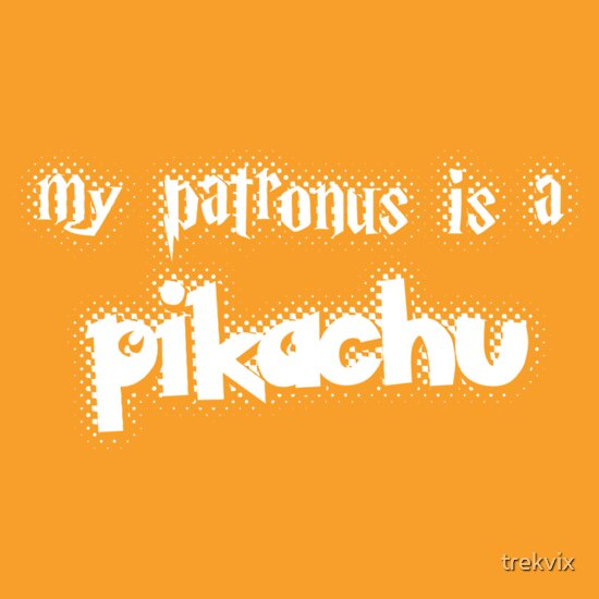 TShirtGifter presents: My patronus is a pikachu