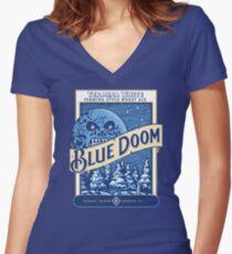 Blue Doom Women's Fitted V-Neck T-Shirt