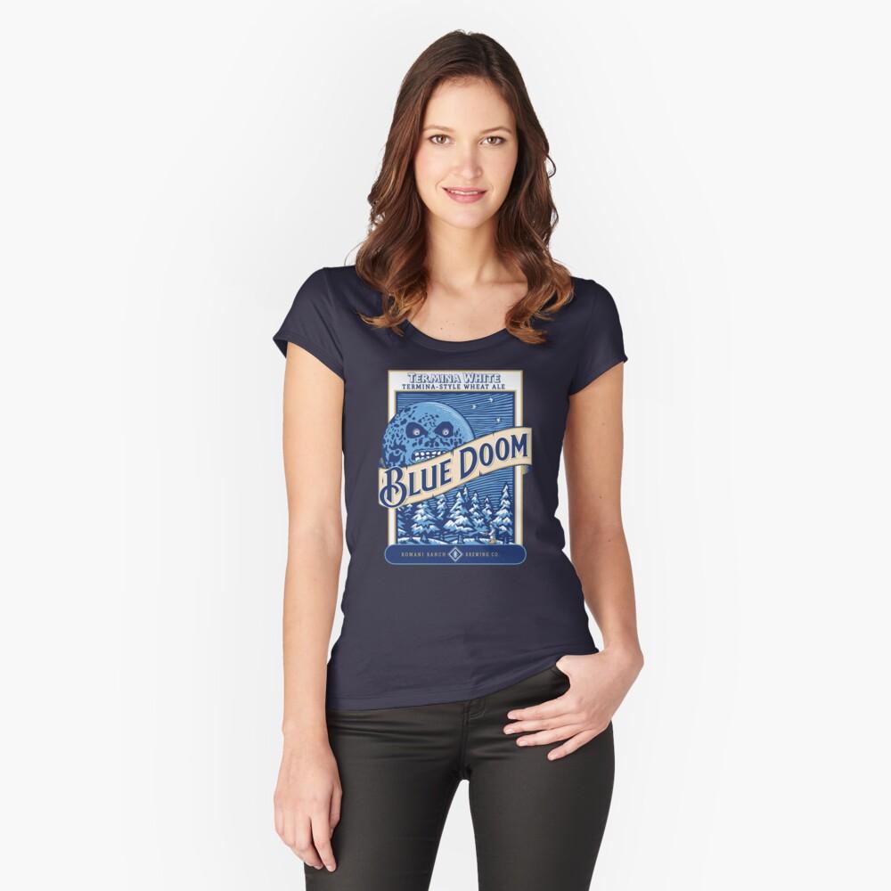 Blue Doom Camiseta entallada de cuello ancho