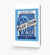 Blue Doom Greeting Card