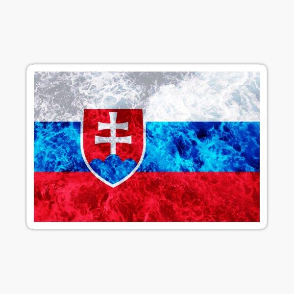 Flag of Slovakia - Ocean Waves Sticker
