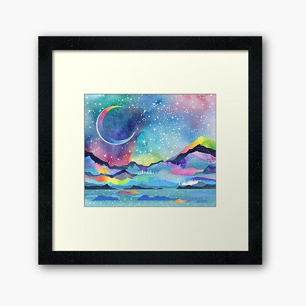 Opal Sky Landscape Framed Art Print