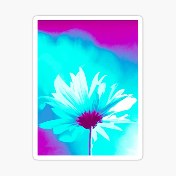 """Crazy Daisy  (From """"Painted Flowers"""" collection) Sticker"""