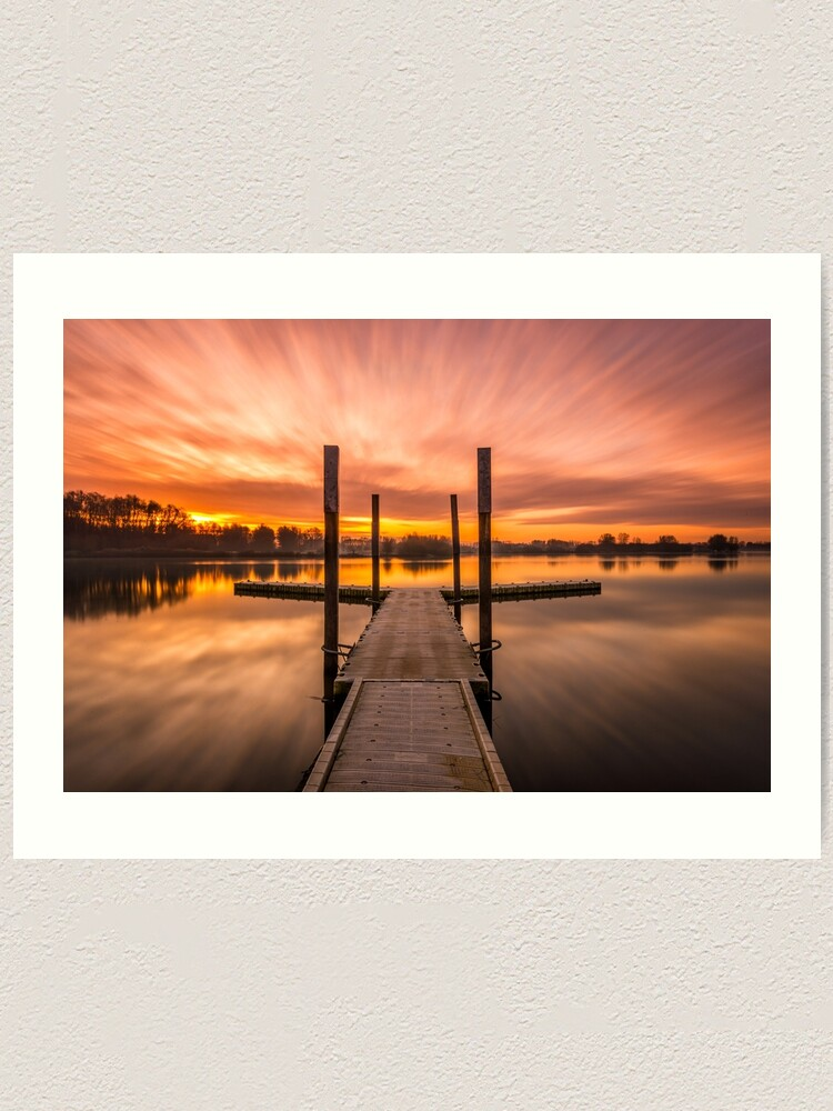 "Alternate view of Sunrise at ""Schulensmeer"" in Lummen, Belgium Art Print"
