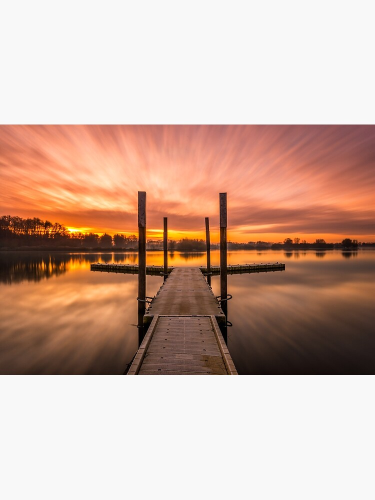 "Sunrise at ""Schulensmeer"" in Lummen, Belgium by bertbeckers"